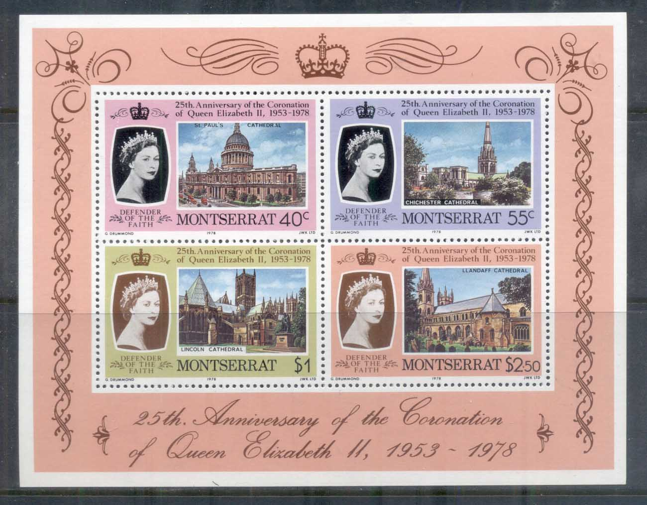 Montserrat 1978 QEII Coronation 25th Anniversary MS MUH