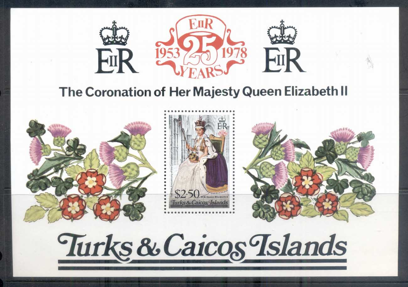 Turks & Caicos Is 1978 QEII Coronation 25th Anniversary MS MUH