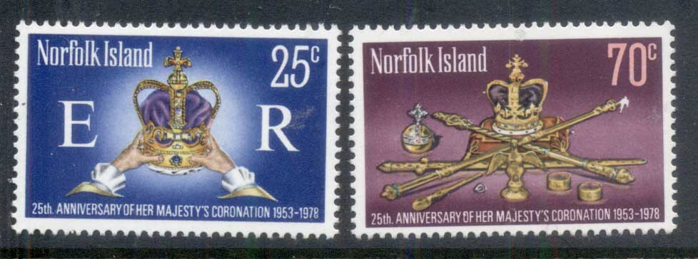 Norfolk Is 1978 QEII Coronation 25th Anniversary MUH