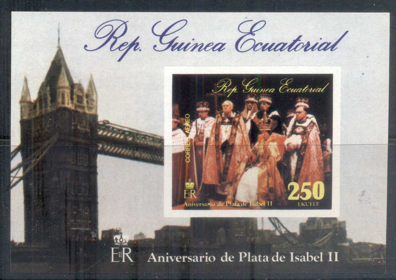 Equatorial Guinea 1978 QEII Coronation 25th Anniversary 250e MS MUH