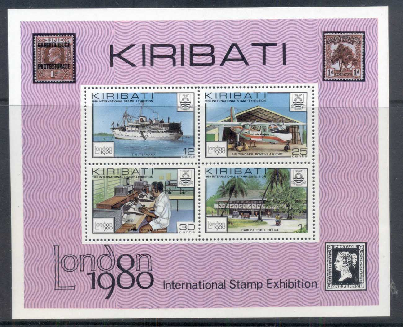 Kiribati 1980 London '80 Stamp Ex MS MUH