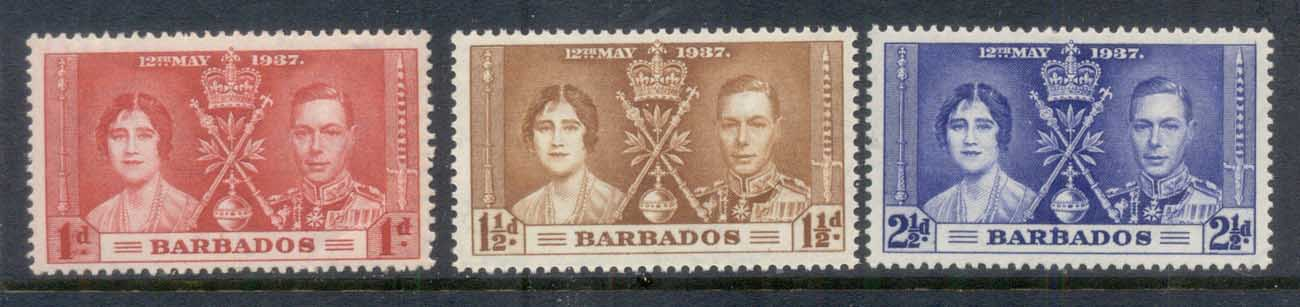 Barbados 1937 Coronation MUH