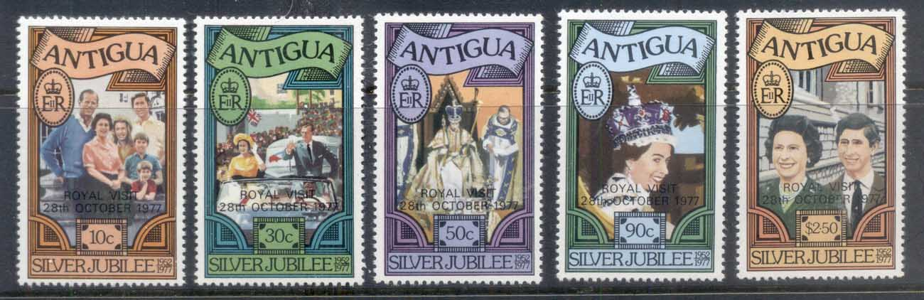 Antigua 1977 QEII Silver Jubilee Opt Royal Visit MUH