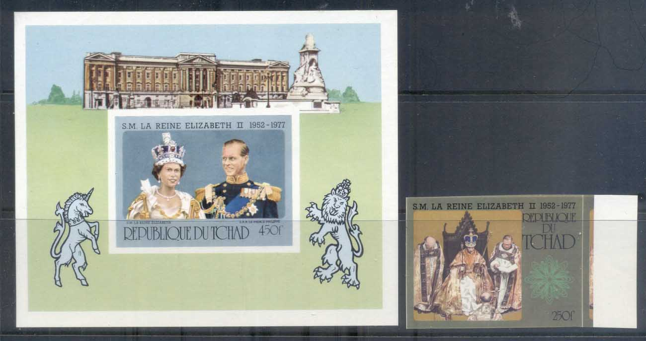 Chad 1977 QEII Silver Jubilee +MS IMPERF MUH