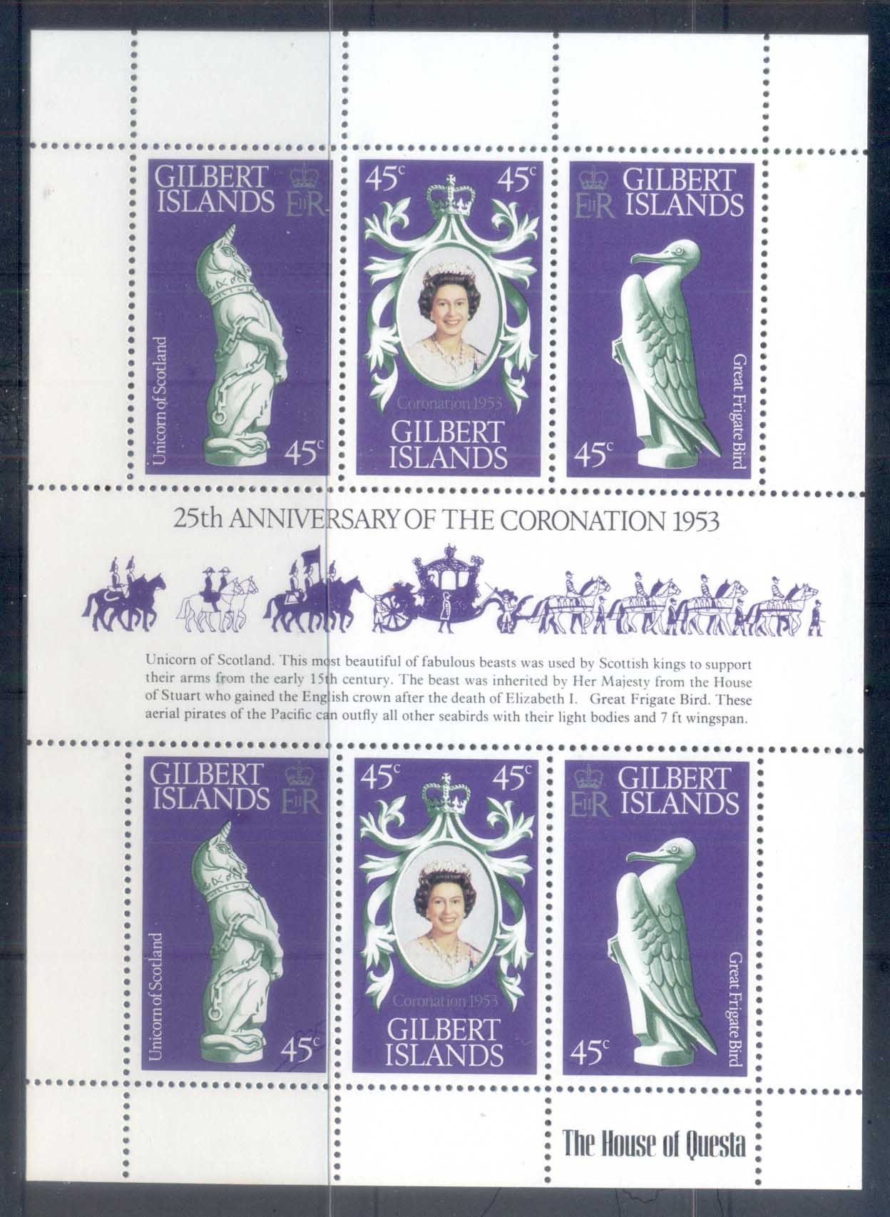 Gilbert Is 1978 QEII Coronation 25th Anniversary MS MUH