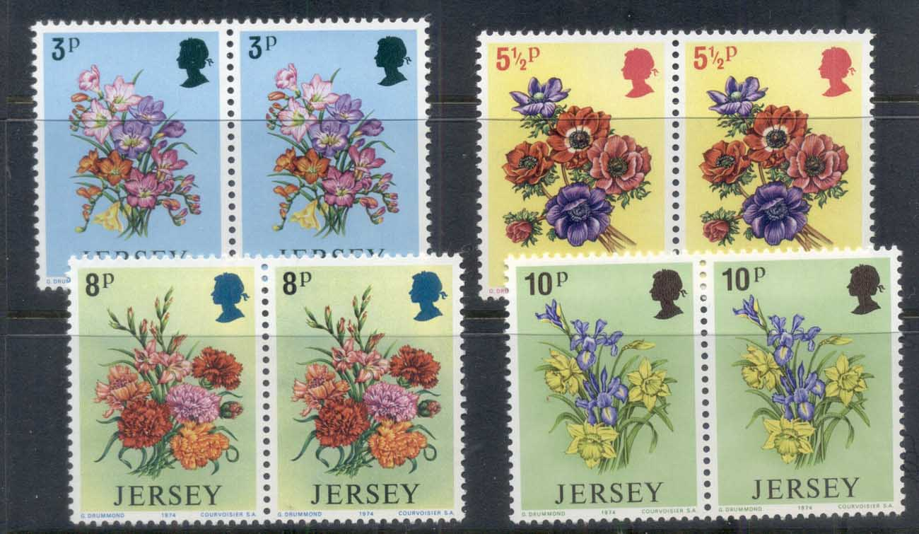 Jersey 1974 Jersey Spring Flowers prs MUH