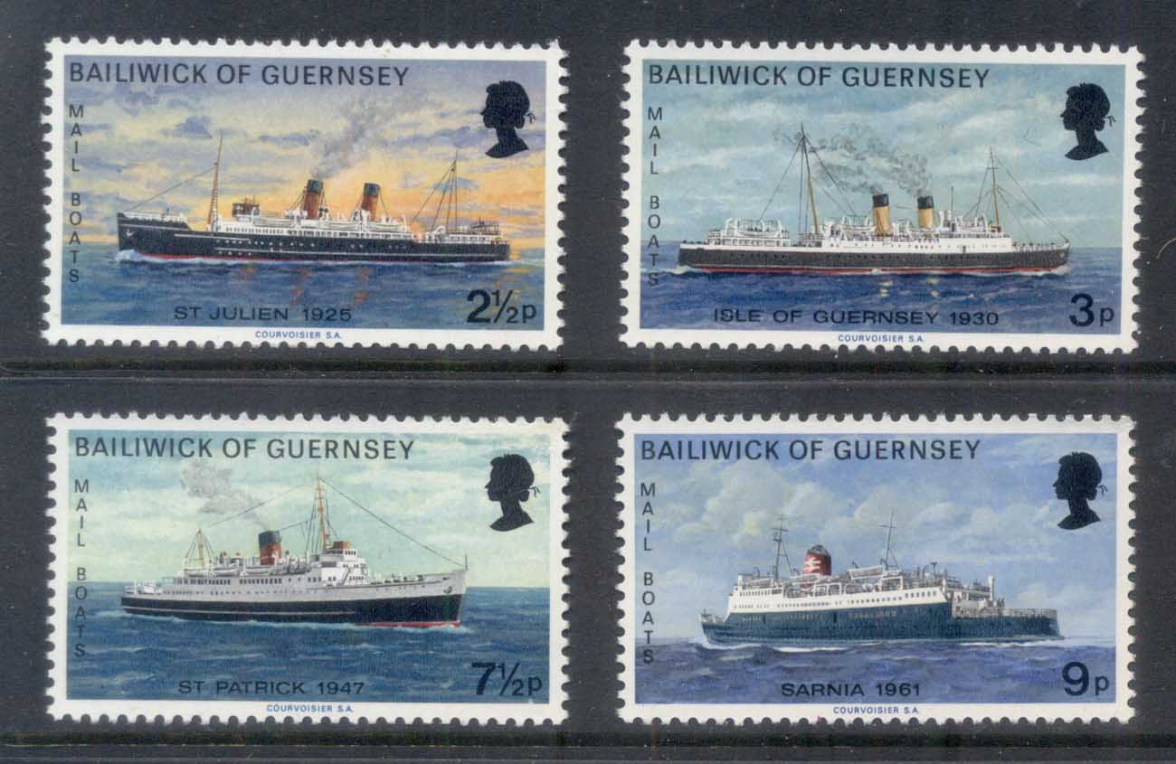Guernsey 1973 Mail Boats MUH