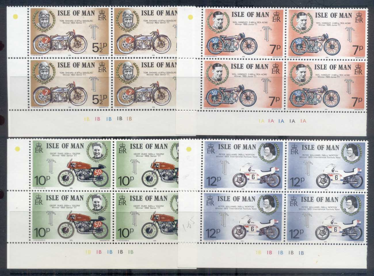 Isle of Man 1975 TT Races, Tourist Trophy Motorcycle Races Blk4 MUH