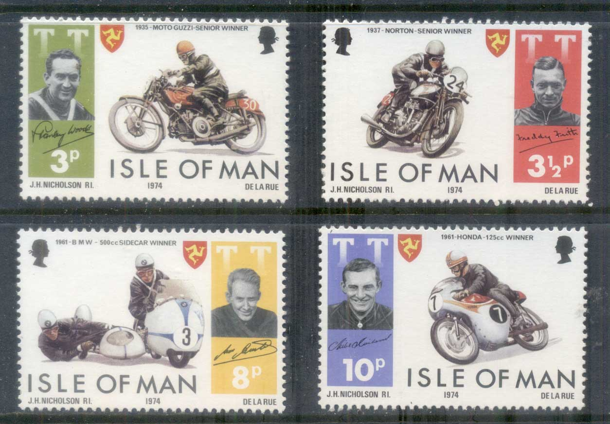 Isle of Man 1974 TT Races, Tourist Trophy Motorcycle Races MUH