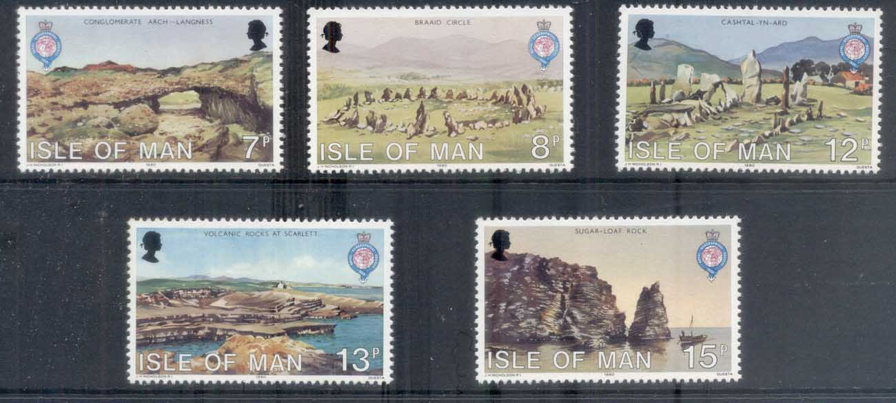 Isle of Man 1980 Royal Geographical Society 150th Anniv. MUH
