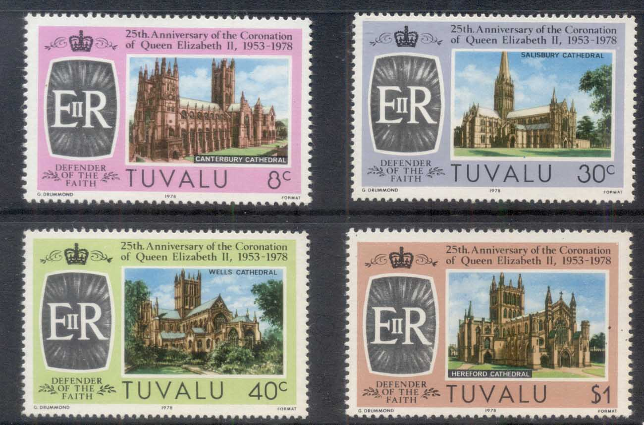 Tuvalu 1978 QEII Coronation 25th Anniv. MUH
