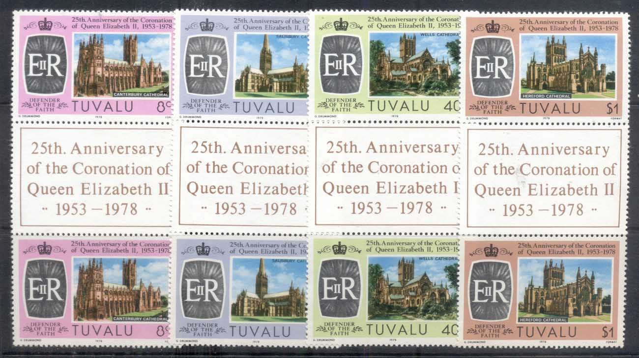 Tuvalu 1978 QEII Coronation 25th Anniv. Pr MUH