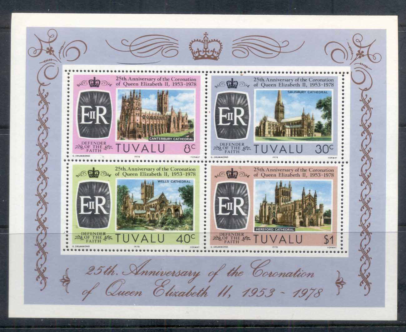 Tuvalu 1978 QEII Coronation 25th Anniv. MS MUH