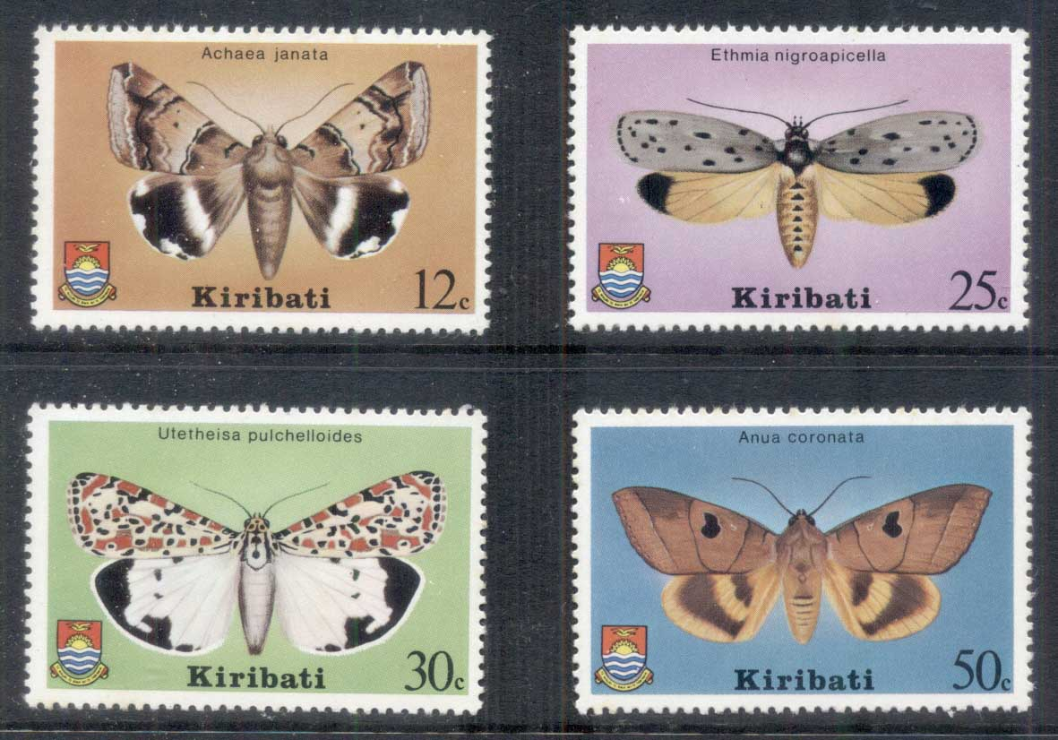 Kiribati 1980 Insects, Moths MUH