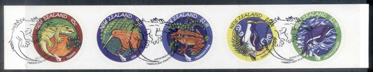 New Zealand 2007 Native Wildlife Str5 P&S CTO/FDI