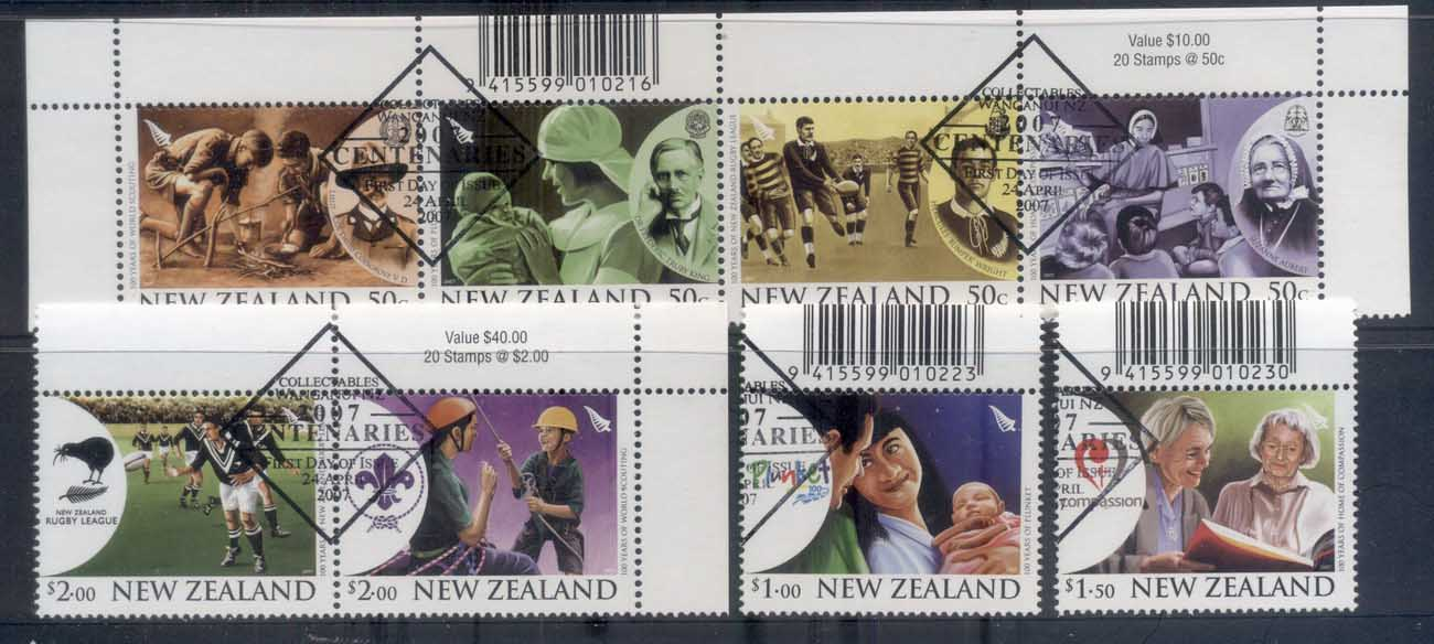 New Zealand 2007 Centenaries CTO/FDI