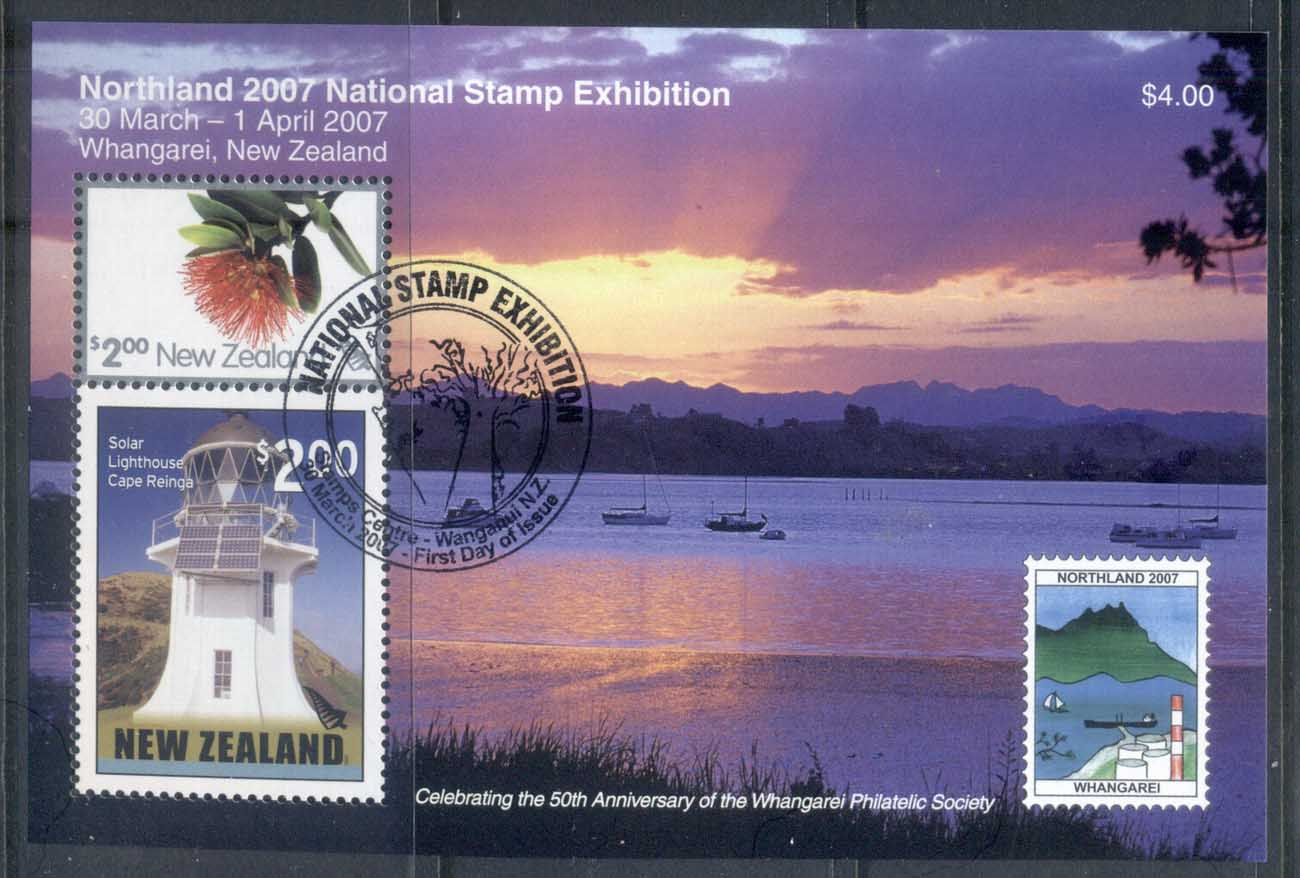 New Zealand 2007 Northland Stamp Ex , Lighthouse MS CTO/FDI