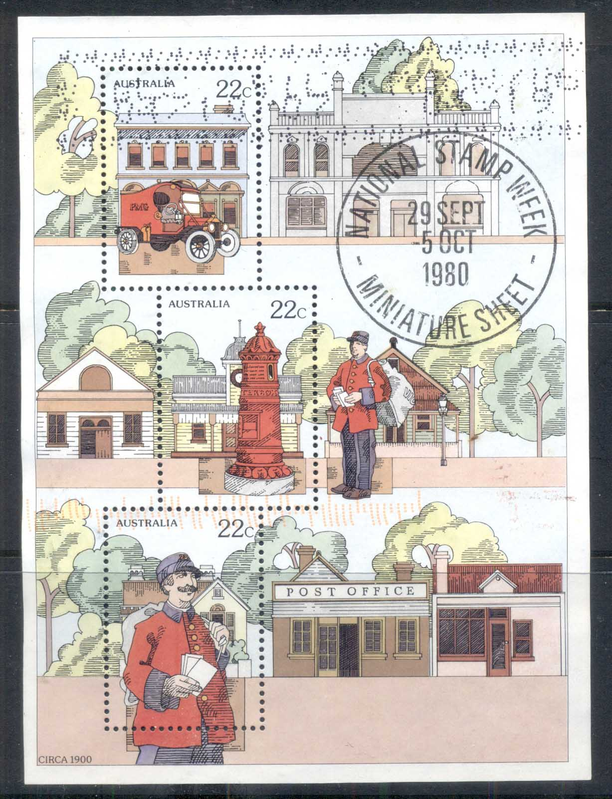 Australia 1980 National Stamp Week MS CTO