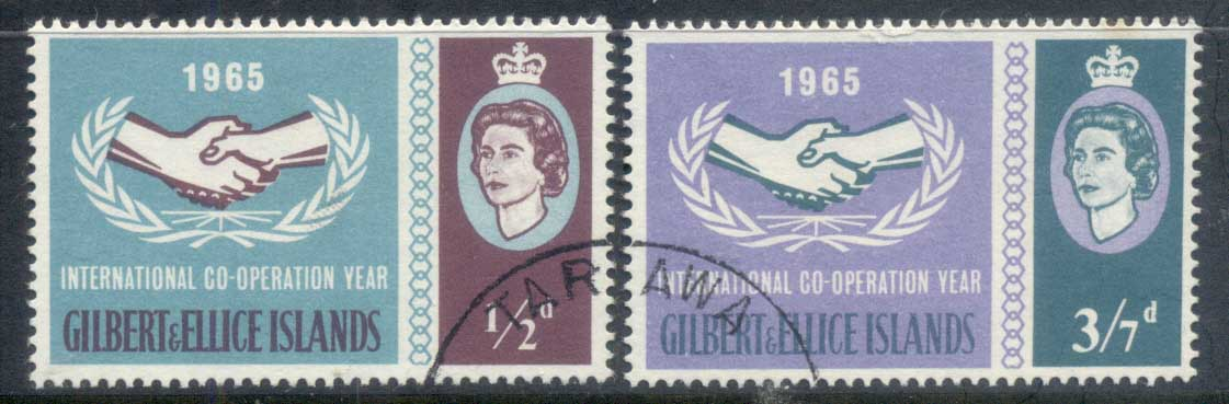 Gilbert & Ellice Is 1965 ICY International Cooperation Year FU