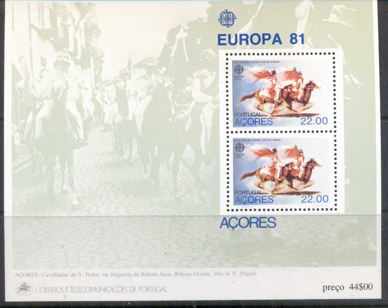Azores 1981 Europa, Folklore MS MUH