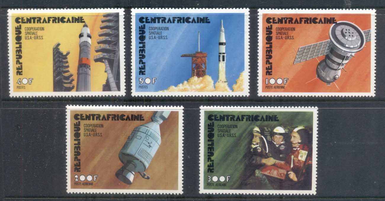 Central African Republic 1975 Apollo-Soyuz Joint Russia/USA Space Project MUH
