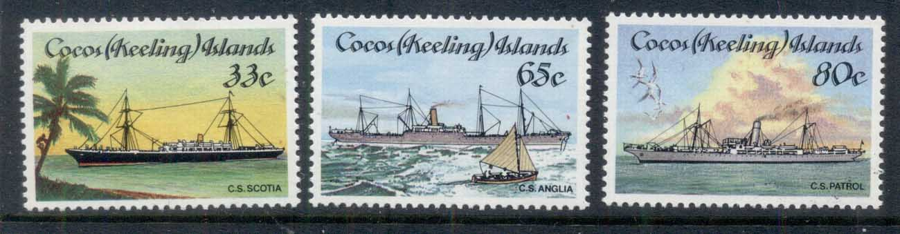 Cocos Keeling Is 1985 Cable Laying Ships MUH