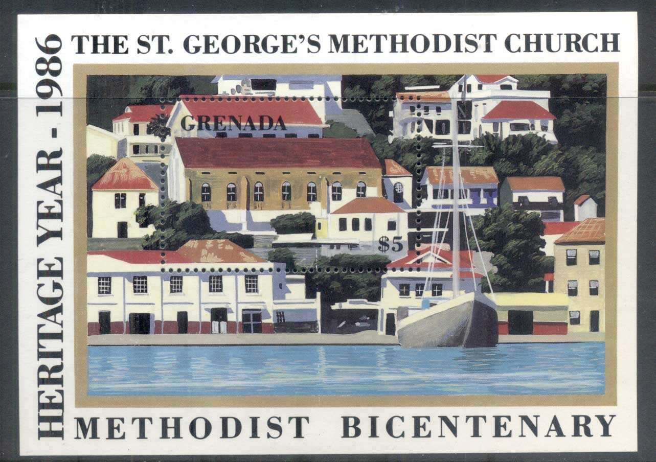 Grenada 1986 Heritage Year, Methodist Bicent. MS MUH