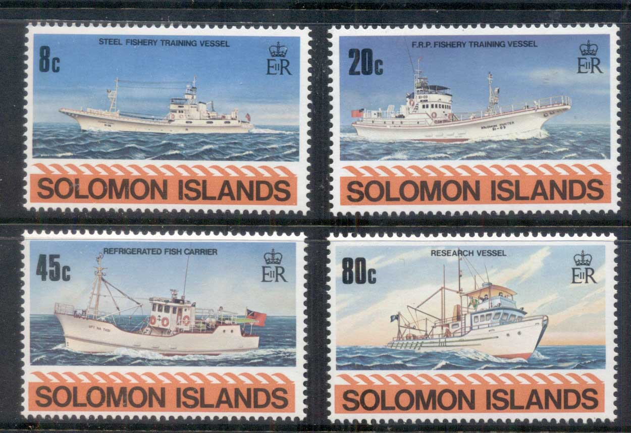 Solomon Is 1980 Fishing Vessels, Ships MUH