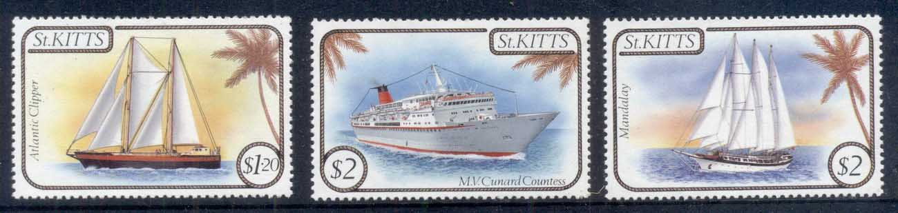 St Kitts 1985 Ships (3/4, no 40c) MLH
