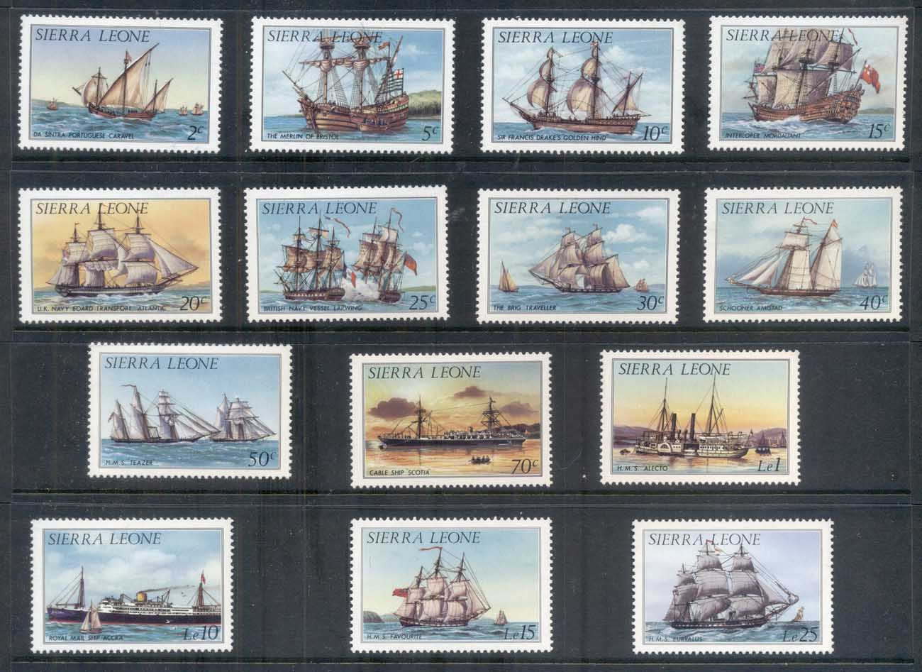 Sierra Leone 1984-85 Ships (14/16, no 2,5le) MLH