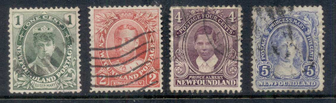 Newfoundland 1911 Royal Family Asst. FU