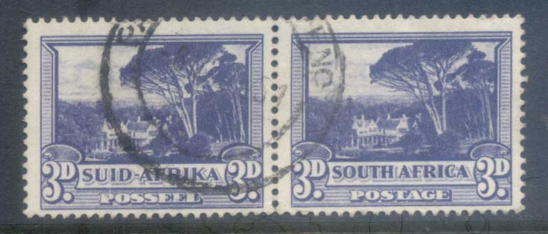 South Africa 1947-54 Pictorial, Groot Schuur 3d pr FU