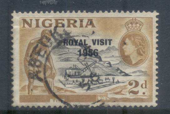 Nigeria 1956 Royal Visit Opt FU