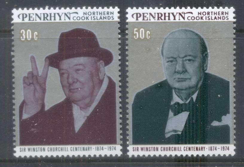 Penrhyn Is 1974 Sir Winston Churchill MS MUH