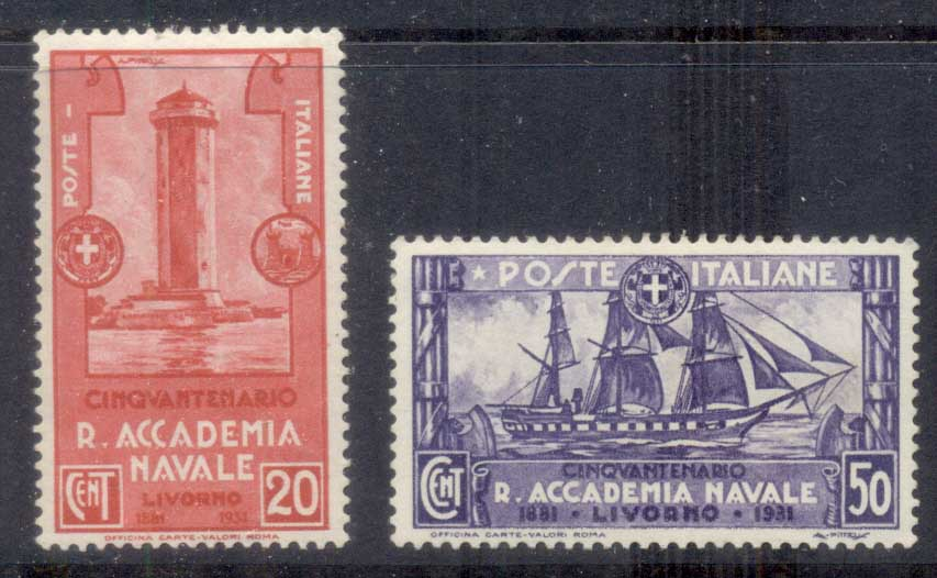 Italy 1931 Royal Naval Academy 20,50c MLH