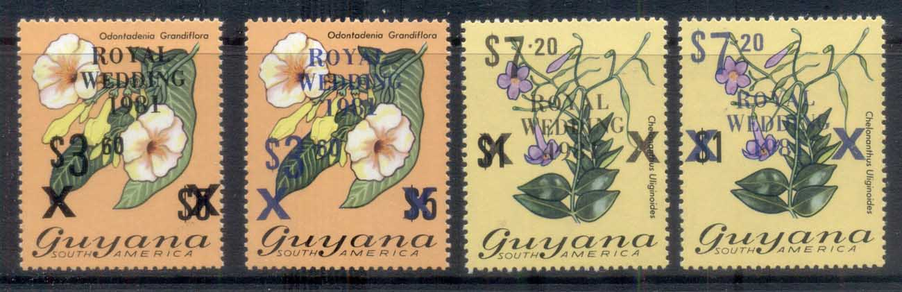 Guyana 1981 Royal Wedding Charles & Diana Blue & black Opts FU