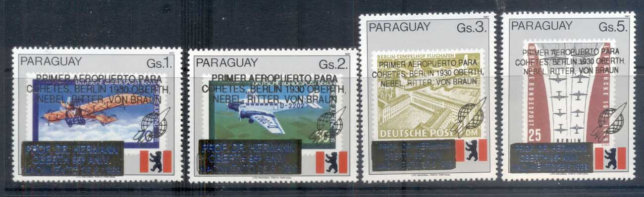 Paraguay 1989 Space Rocket Scientist, Dr hermann Oberth MUH Opt MUH