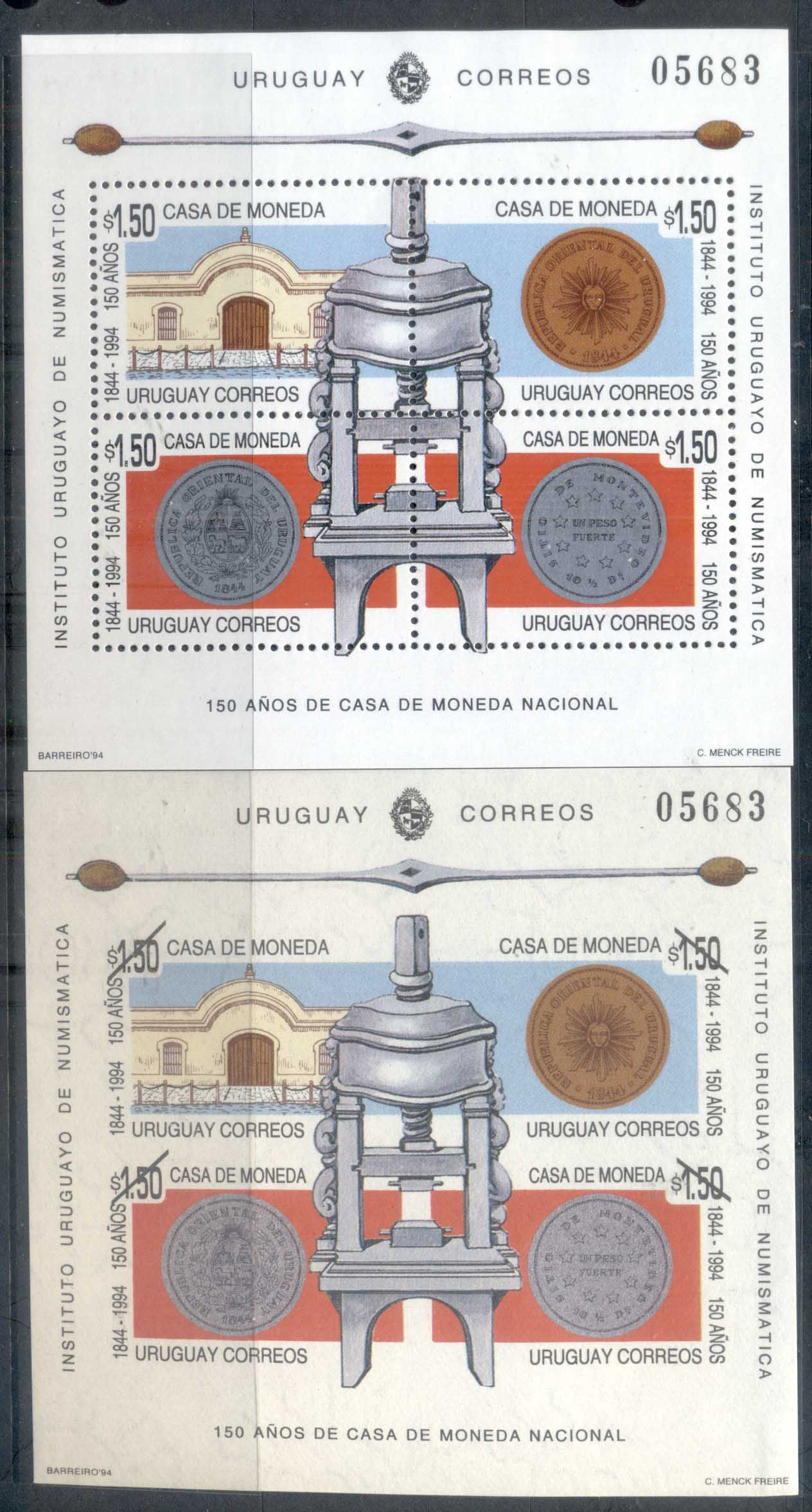 Uruguay 1994 National Mint 2x MS MUH