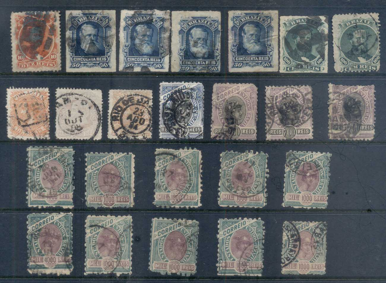Brazil 1880's on Assorted Oddments FU