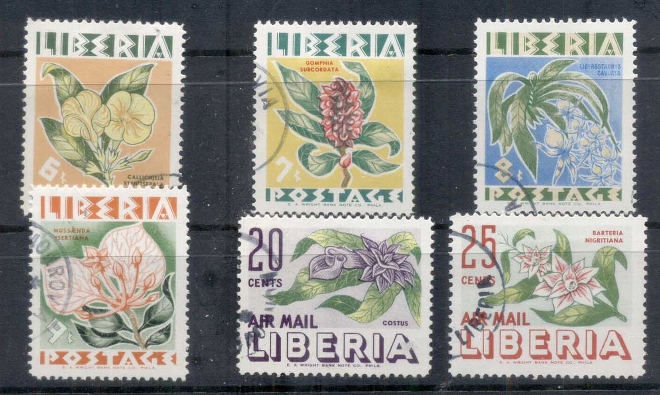 Liberia 1955 Native Flowers CTO