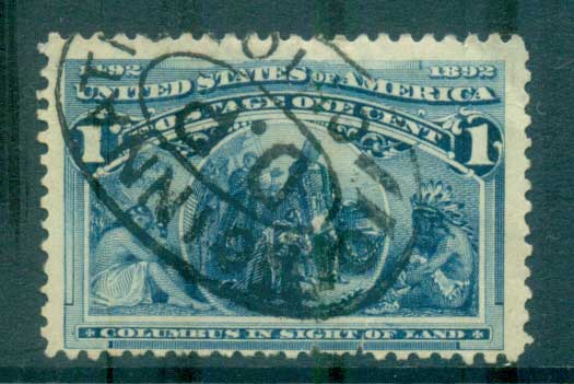 USA 1893 Sc#230 1c Columbian Exposition FU lot67175