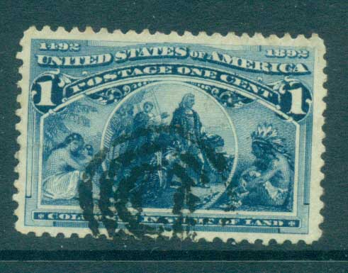 USA 1893 Sc#230 1c Columbian Exposition FU lot67176