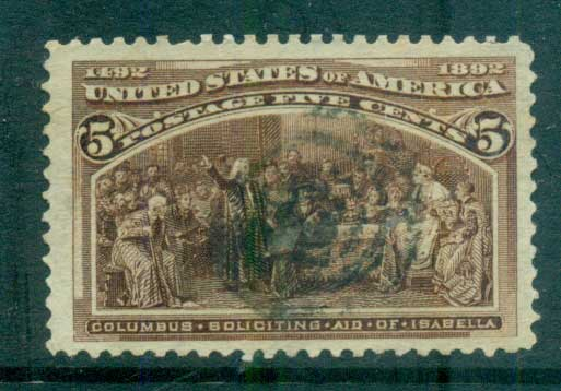 USA 1893 Sc#234 5c Columbian Exposition FU lot67186