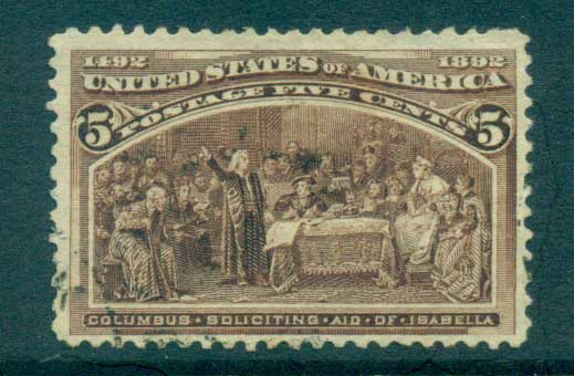 USA 1893 Sc#234 5c Columbian Exposition FU lot67187