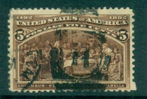 USA 1893 Sc#234 5c Columbian Exposition FU lot67188