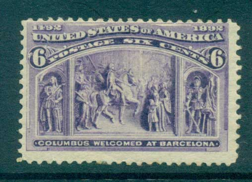 USA 1893 Sc#235 6c Columbian Exposition (hinge thin) MH lot67190