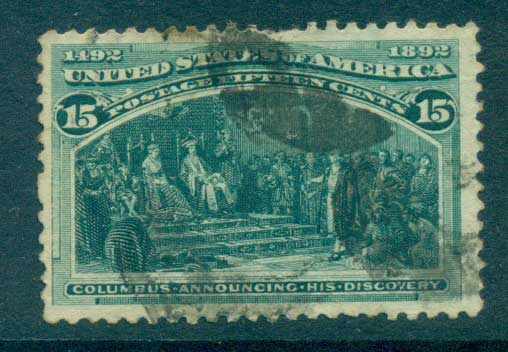 USA 1893 Sc#238 15c Columbian Exposition FU lot67193