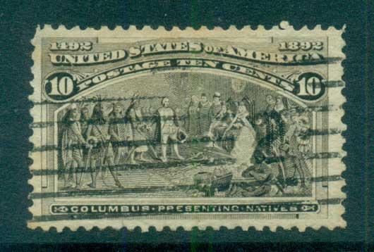 USA 1893 Sc#237 10c Columbian Exposition FU lot67195