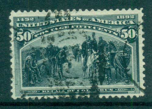 USA 1893 Sc#240 50c Columbian Exposition FU lot67200