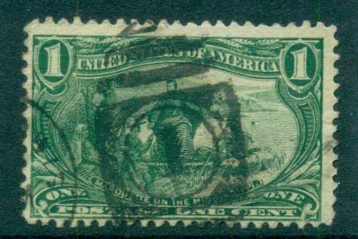 USA 1898 Sc#285 1c Trans-Mississippi Exposition FU lot67201